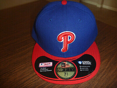 b47a04273 Philadelphia Phillies New Era 59Fifty On Field Alt Red Fitted Hat Size 7 3/4