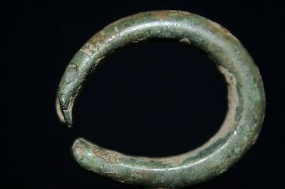 Ancient Viking Bronze Finger Ring depicting Norse Serpent Snake, c 950-1000 Ad.