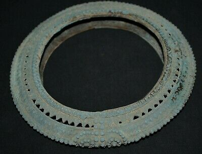 Ancient Viking Bronze decoration for wooden Food Dish / Cup Plate, c 950-1000 Ad
