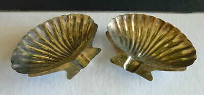 PAIR Mexico sterling signed shell shaped tray, ashtray, pin tray, condiment
