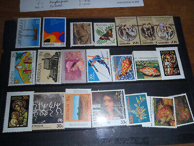21 Australian Stamps Australia Day, Fish, Christmas day, set 1