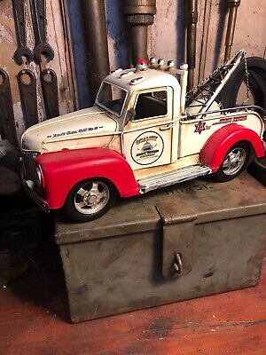 Tow Truck Red Quality Towing Tin Toy