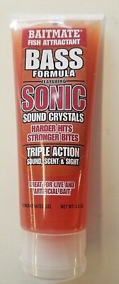 Baitmate Fish Attractant Bass Formula Sonic Sound Crystals Triple Action Free SH