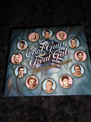 Cool Guys And Great Gals 100 Crooner Cd Box Set Perry Como  Peggy Lee Vera Lynn