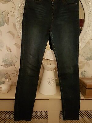 4fdcbc9c25e 127# NEW LOOK Blue Ripped Knee High Waist Skinny Haille Jeans Size ...