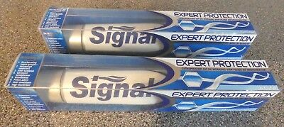 "Lot de 2 DENTIFRICES SIGNAL blancheur ""EXPERT PROTECTION"" Intégral 8 * 100% NEUF"