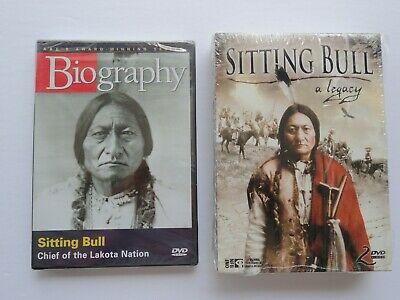 """""""SITTING BULL, BIOGRAPHY, SEALED and 2 DISC> """"A LEGACY"""" ,  with """"FREE SHIPPING""""!"""