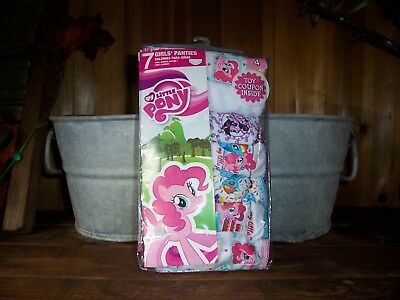 My Little Pony Girls Underwear 7 Pack Size 4 Kids Panties School Clothes Casual