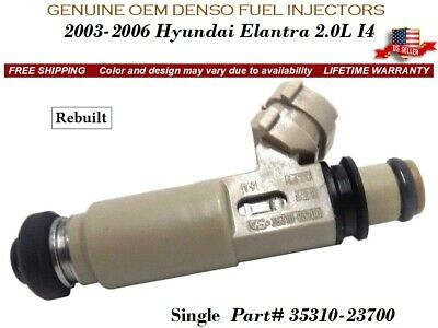 4 Fuel Injectors Set for Hyundai 35310-23700 Rebuilt /& Flow Matched in the USA