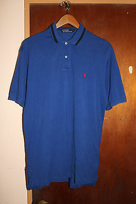 Polo Ralph Lauren Men's Blue Polo Shirt Size Medium