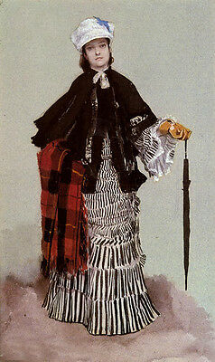 Oil painting James Jacques Joseph Tissot - A Lady in a black and white Dress 36""
