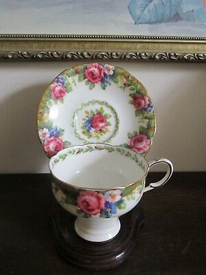 Paragon England Bone China Tapestry Rose Cup And Saucer