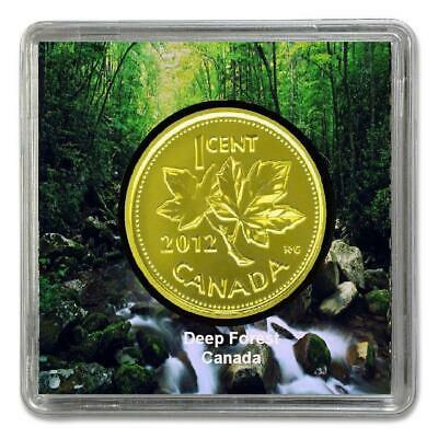 2012- Canadian ONE CENT Plated 24k Gold Magnetic