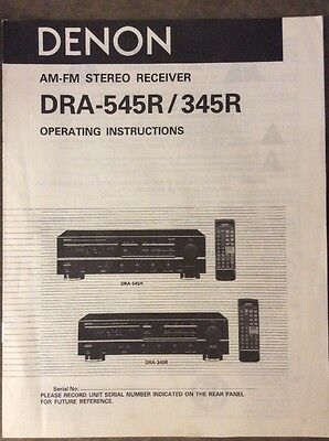 DENON DRA 545R//345R OPERATING INSTRUCTIONS  ON A  CD