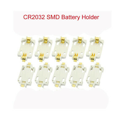 White CR2032 SMD Button Battery Holder Battery Coin Cell Holder For 3V Lithium