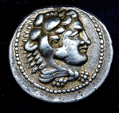 Alexander the Great. Stunning Tetradrachm. Posthumous Issue. Greek Silver Coin.