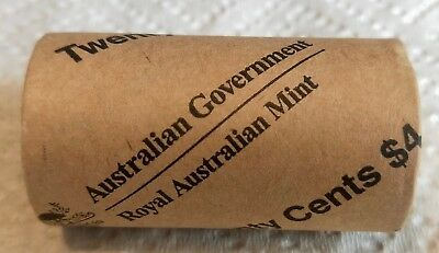 2016 20 cent 50th Anniversary Royal Australian Mint Roll uncirculated coins