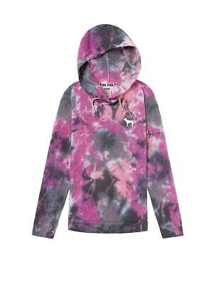 New VICTORIA/'S SECRET PINK Tie Dye Oversized Crossover Tunic Hoodie Great Gift