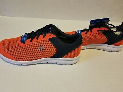 a84422f373293 NWT Mens CHAMPION GUSTO XT II Orange Navy Sneakers Size 15 Non Marking Soles