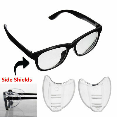 Clear Side Shields 2 Pairs Universal Fit Flexible For Eye Glasses Safety Glasses