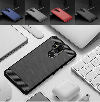 For LG G7 ThinQ G6 G7 G8 Shockproof Slim Fiber Carbon Silicone Rugged Case Cover