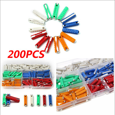 200 pcs european automotive torpedo fuse 5-25amp for vintage old style car+ box