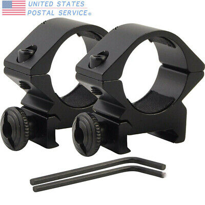 25.4mm Low QD Scope Laser Flashlight Ring Mount For 20mm Airsoft Scope Tactical
