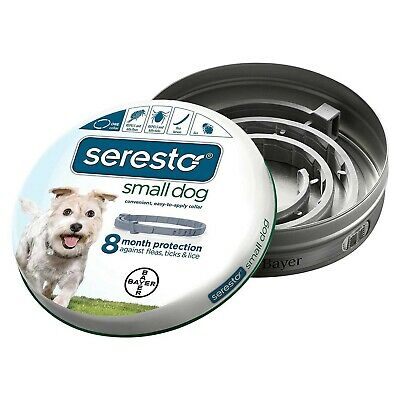 Bayer Seresto Flea and Tick Collar for Dogs Small Gray - SERESTO-SM