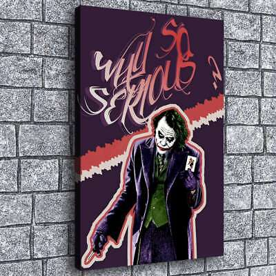 "Joker Why So Serious HD Canvas Print Painting Home Decor Picture Wall Art 16""x24"