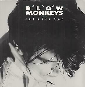 """BLOW MONKEYS Out With Her 12"""" VINYL UK Rca 1987 3 Track B/W Grantham Grizzler"""