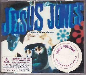 JESUS JONES Bring It On Down CD UK Food 1989 4 Track B/W None Of The EX/EX-