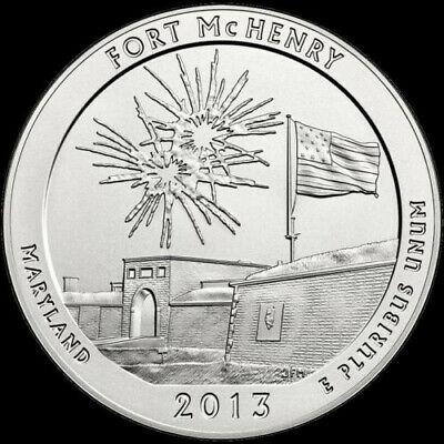"ATB 2013 ""S"" Fort McHenry National Park Qtr - Maryland. From original mint bags"