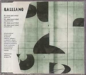 GALLIANO Ease Your Mind CD Germany Talkin Loud 1996 4 Track Bakers Edit