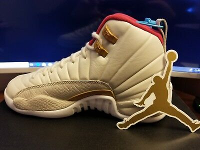 huge selection of 67888 4db79 Nike Air Jordan 12 XII Retro CNY GG Size 5.5Y 881428-142 New with