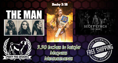 WWE Becky Lynch Magnets! Set Of 3! LAST ONES!!!