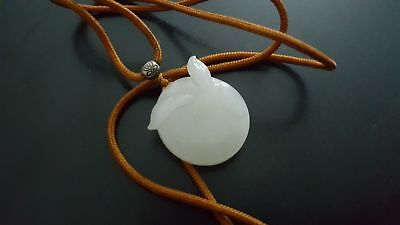 vintage?age? good quality Chinese nephrite white jade seagull pendant necklace
