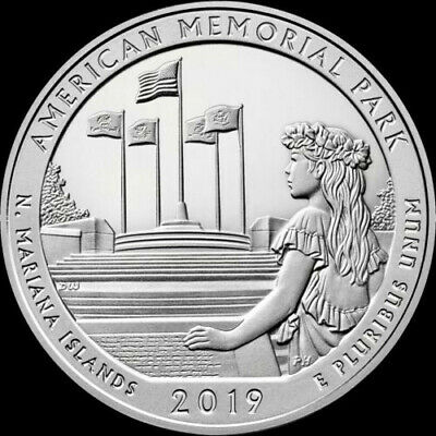 """2019 """"P"""" ATB Qtr American Memorial Park, N Mariana Islands - From orig mint bags"""