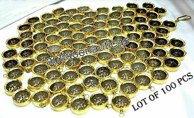 Brass Open Face COMPASS Key Ring LOT OF 100 PCS Vintage Collectible Marine Gift