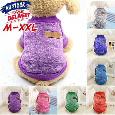 Knitwear Cute Puppy Knitted Dog Sweater Coat Winter Jumper Warm Cat Pet Clothes