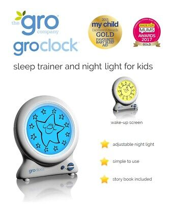 Kids Alarm Clock New Sleep Trainer With Bedtime Story Book By The Gro Company