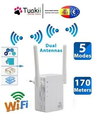 Repetidor Wifi 300 Mbps Wireless-N Señal Router Booster Extender Red UGT
