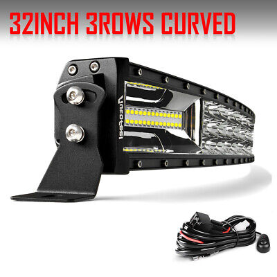 "Tir-Row 2025W 32Inch Curved LED Light Bar Flood Spot Combo 30/"" Offroad Harness"