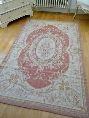 Ravishing Antique French Chateau Needlepoint Roses Tapestry Chair Seat Cover Antiques Tapestries