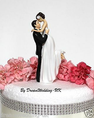 Looking With Love Romantic Bride & Groom Couple Wedding Cake Topper RRP 30£