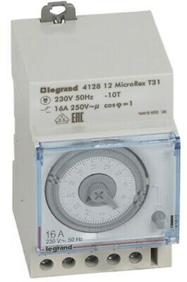 Legrand DAILY PROGRAMMABLE TIME SWITCH 16A 3-Modules 1-Channel, Horizontal