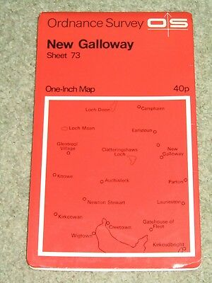 "Vintage OS Ordnance Survey 1"" map - Sheet 73 New Galloway: 1965 edition"