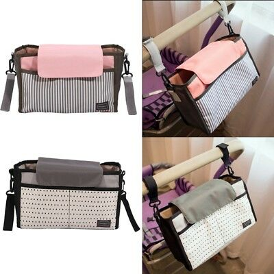 Portable Baby Diaper Bag Stroller Hanging Nappy Changing Storage Pouch Organizer
