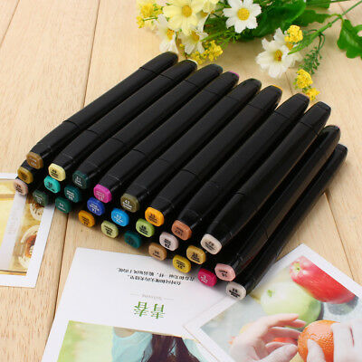 80X Touch New Five Graphic Markers Art Pen Oil Acohol Twin Tips Anime Drawing