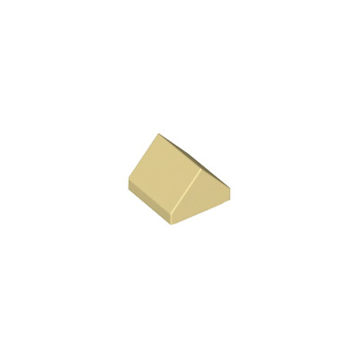 Beige Tan 4 x lego 35464 Brick Roof Roof Tile 1x1 Double Slope 45° New New