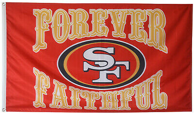 f6a9785d SAN FRANCISCO 49ERS Faithful Then and Now Wall Flag banner New in ...